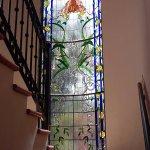 Vitral creado por Bernalenses. Hotel Feregrino, Bernal, Querétaro