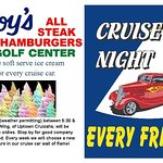 Cruise Night every Friday 5pm  -  8pm