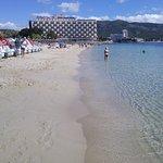 Palma Nova beach & sea just 1 minute from hotel.