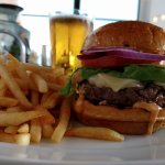 Local organic Wagyu burger & draft beer $19 at the bar everyday!