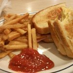 Ham and egg melt with fries