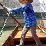Our canal boat driver in Suzhou
