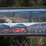 Information sign at Sunset Crater Volcano National Park