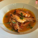 Lovely meaty prawns in red Thai butter- delicious!