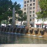 The fountain at Copley Square