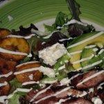 Pineapple rum steak tip salad