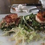after I ate 1/2 my Blackened Shrimp Salad (4 shrimp)