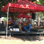 Live music next door at the market