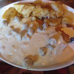 Jager Schnitzel with Hunter Sauce and German Fried Potatoes