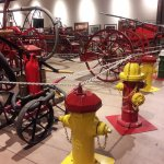 Some of many fire hydrants, and hand held equipment.