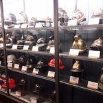Just a few of the helmets on exhibition