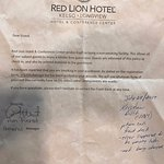 Smoking letter from Hotel Mgmt