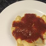 Meat ravioli with meat sauce