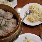 Steam pork bun/dumplings and Shanghai fried rice