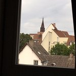 View of Catherdral from dormer-style bedroom window