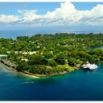 Madang Resort, Dallman passage on the left.  Beautiful Madang!