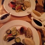 Steak and chicken main meals with various sauces
