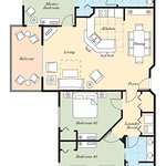 Wyndham Bonnet Creek Resort Floor Plan