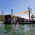 Riding on the Free Spirit at Elk Lake Resort