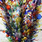 """""""Inside & Out"""" 2000, Chihuly. Blown glass."""