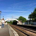 Railway passengers waiting for the next train