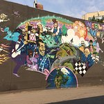 Beautiful murals and street art along Whyte Ave.