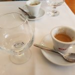 Espresso and Grappa, the only way to finish a good Italian meal.
