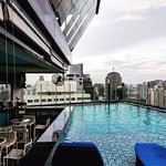 37th floor pool, bar and nice view