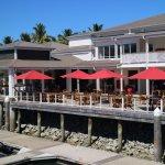 Main reception and marina cafe