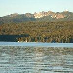 Diamond Lake Resort from across the lake