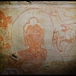 Ceiling Fresco : Kanheri Cave 34