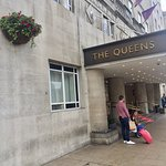 The exterior and lobby of The Queens Hotel Leeds