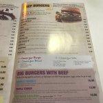 Burgers & menu