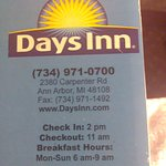 Bedbugs at Days Inn Ann Arbor Michigan 7-6-17