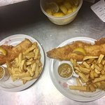 Nice 👍 fish 🐟 and chips 🍟🐟🐟🐟