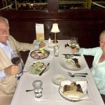 Annie has the bone-in filet and it was fabulous; best steak ever