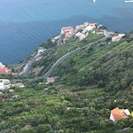 The view from the garden at Villa Cimbone -- looking down on an Amalfi Coast town
