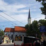 Church Spire that you need to follow to reach hotel