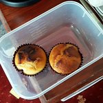 Julie's homemade lemon curd filled muffins on arrival were delicious!