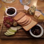Selection of Welsh Cheese and Biscuits and homemade chutney