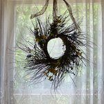 Wreath decoration in the window