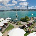 vista dalla terrazza sul lago di Zurigo