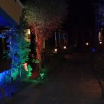 Night time lighting on walkways