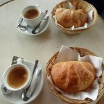 L'aubette's coffee and croissant for €2.50.