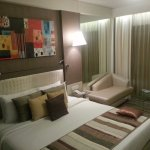 Nicely decorated room, comfortable bed