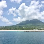 View of Nevis as we're leaving . . . sad day!