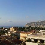 View from roof garden to Vesuvius