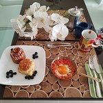 Breakfast with Huevos Santa Rita and pastries from Zahabi Shop