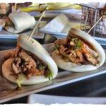 Stinky Bunz - braised pork belly and kimchi.
