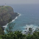 Sweeping vistas from the upper parking lot -- Kilauea Lighthouse